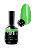 Gel Polish #97 «Lime» MYSTIQUE™, 15 ml