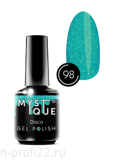 Gel Polish #98 «Disco» MYSTIQUE™, 15 ml