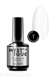 No wipe Elastic Top «Gloss» MYSTIQUE™, 15 ml (без липкого слоя)